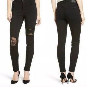 Joe's Jeans Flawless The Charlie Skinny Black Lace
